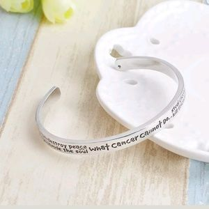Jewelry - What Cancer Can Not Do Stainless Steel Cuff